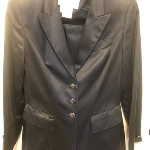 Escada blazer sz 36 navy metallic sheen w/pockets